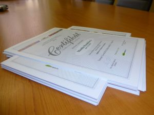 Certifikát o studiu