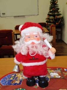 Santa v jazykovce.