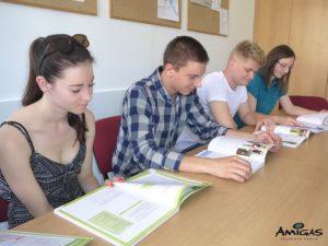 Stusium angličtiny v jazykové škole Amigas.
